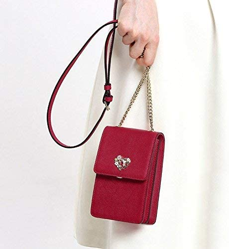 Bags Sacs à main pour dames Fashion Mobile Phone Bag Mini Mini Satchel Bag Chain Small Square Bag,rouge Rouge