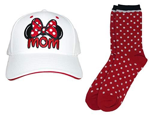 - Set Disney Mom Minnie Baseball Hat & Reversible Socks - 2 Piece Bundle