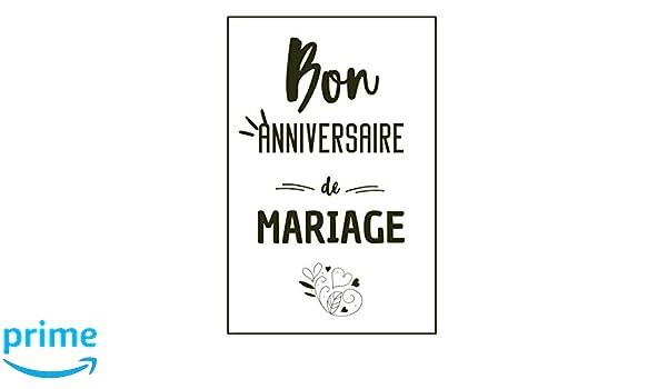 Idee Cadeau Pour Mariage.Bon Anniversaire De Mariage Carnet De Notes Original Une