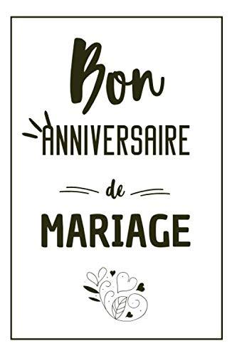 Bon Anniversaire De Mariage Carnet De Notes Original Une