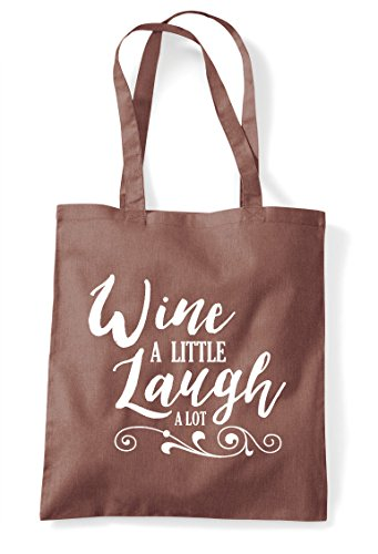 Lot Laugh Statement Chestnut Little Tote A Wine Bag Shopper FOEqtt