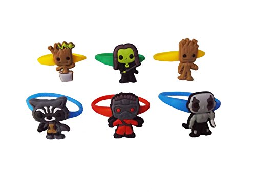 Zoe Saldana Guardians Of The Galaxy Costume (AVIRGO 6 pcs Colorful Releasable Ponytail Holder Elastic Rubber Stretchable No-slip Hair Tie Set # 114 - 7)