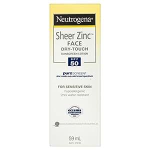 Neutrogena Sheer Zinc Face Sunscreen Lotion SPF50 59mL