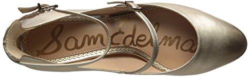 Sam Women's Edelman Leather Pump Molten Metallic Gold Lulie r4r5w7q