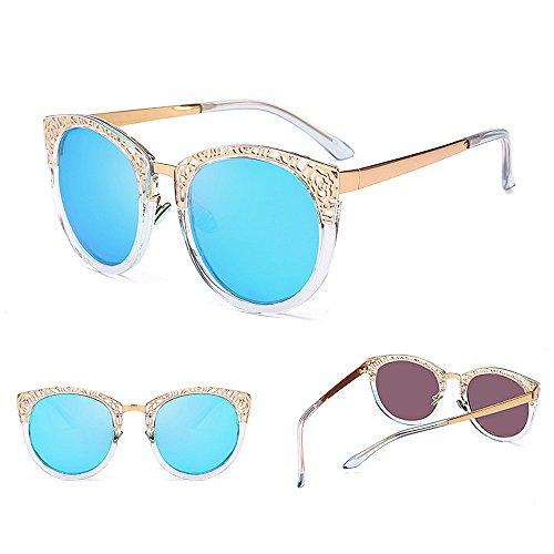 Design Retro de UV C2 Femmes pour Élégant Couleur Les Protection Peggy Soleil C3 Lunettes Gu Creux wEI6Bq