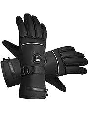 Liadance Ogrzewane rękawiczki elektryczne ogrzewanie rękawiczki zimowe śnieg ciepłe rękawiczki ekran dotykowy wiatroszczelne sporty na świeżym powietrzu (XL)