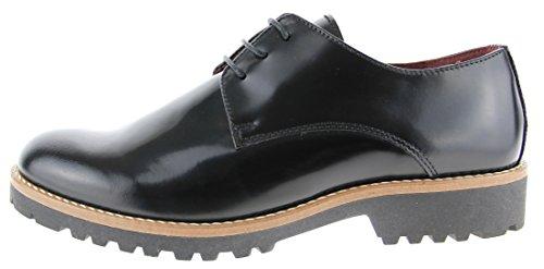 en en benson chaussures Noir cuir Nicola remplacement brush qTwTx