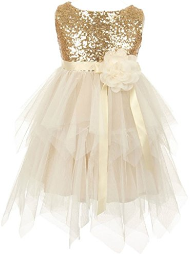 AkiDress Sequin Bodice Double Flower product image