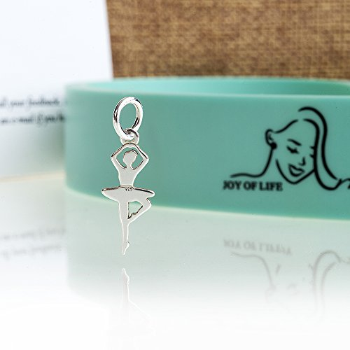 Ballet Stretch Band by Arragma | Flexibility-Improving Latex Resistance Band for Dance and Gymnastics with Storage Bag + Sterling Silver Ballerina Pendant by Arragma (Image #4)