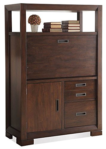 Contemporary Computer Armoires (Computer Armoire in Warm Walnut Finish)