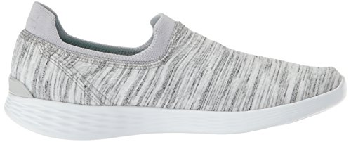 Mujer Gris Blanco Skechers14971W Wide para Zen You awIqY7