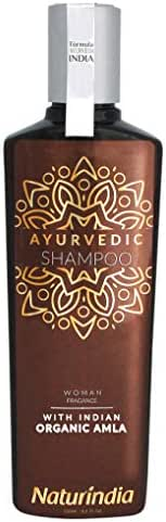 Naturindia Ayurvedic Shampoo for Hair Growth ORGANIC AMLA Indian Vitalize Formula for Shiny and Strong Hair with Vitamin C and B-Complex natural herbs from India For Women 8,4 oz