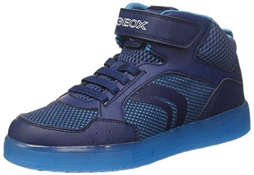 Geox J Kommodor C, Zapatillas Altas Para Niños Azul (Navy/lt Blue)