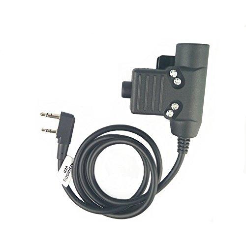 - Z-TAC Tactical Headphone U94 Headset PTT Military Radio for Kenwood 2 Pin Black