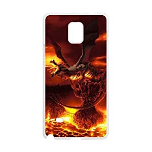 Diy Cool Dragon Phone Case for samsung galaxy note 4 White Shell Phone JFLIFE(TM) [Pattern-1] Kimberly Kurzendoerfer