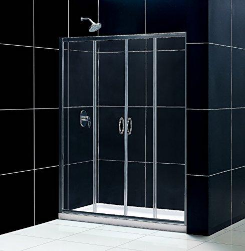 DreamLine Visions 56-60 in. W x 72 in. H Framed Sliding Shower Door in Brushed Nickel, SHDR-1160726-04