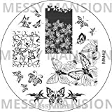 MESSY MANSION MM42 Nail Art Stamping Plate - Butterflies