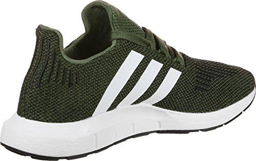 adidas Kinder Swift Run Junior Khaki Textil/Synthetik Sneaker Grün