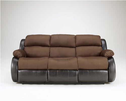Presley Espresso Reclining Sofa by Ashley Furniture