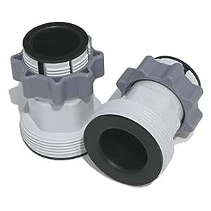 """1,25""""a 1,5"""" tipo B manguera adaptadores para Intex bombas y sistema de agua salada   Juego de 2"""