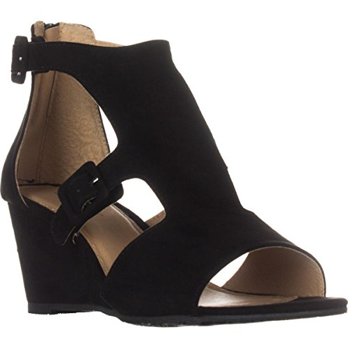 ESPRIT Womens Angel-E Open Toe Casual Platform Sandals Black1054174 hNcLEU