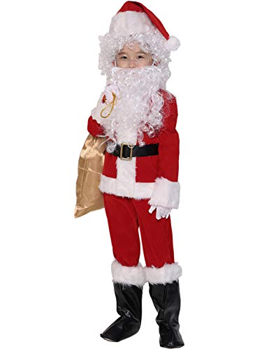 ADOMI Children's Deluxe Santa Suit 10pc. Christmas Child Santa Claus Kids Halloween Costume Cosplay XL