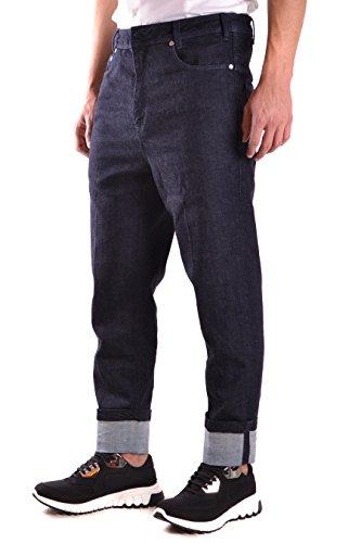 Neil Barrett Homme BDE152A810T1291 Bleu Coton Jeans