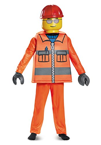 LEGO Construction Worker Deluxe Costume, Orange, Small (Halloween Costume Construction)