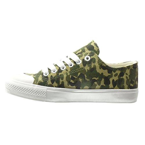 Angkorly - damen Schuhe Sneaker - low - Geflochten flache Ferse 0 CM - Grüne