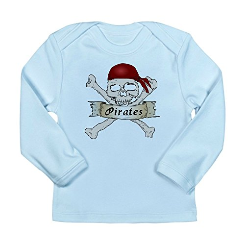 - Truly Teague Long Sleeve Infant T-Shirt Simply Pirates Skull & Crossbones - Sky Blue, 18 To 24 Months