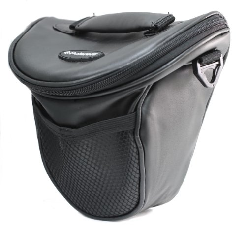 Black Pvc Holster Case - Polaroid Studio Series SLR / DSLR Zoom Holster Case (Black) For The Pentax Q, Q7, Q10, K-3, K-50, K-500, X-5, K-01, K-30, K-X, K-7, K-5, K-5 II, K-R, 645D, K20D, K200D, K2000, K10D, K2000, K1000, K100D Super, K110D, *ist D, *ist DL, *ist DS, *ist DS2 Digital SLR Cameras