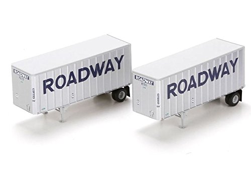 Athearn ATH91130 HO RTR 28' Trailers w/Dolly, Roadway (2) ()