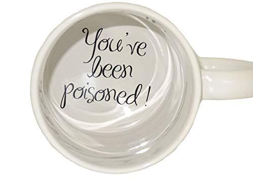 topmug You 2 have been poisoned Coffee Mug, surprize mug, Father, Grandmother, Bottom mug, hidden message, secret message, Funny, Cool, Coffe cup