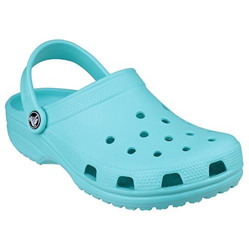 Crocs - Zuecos clasicos para mujer Azul
