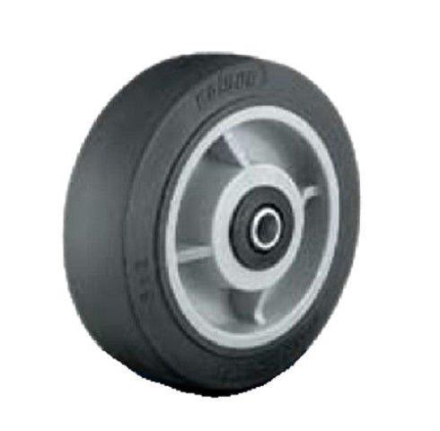"Colson Performa Rubber 8""x2"" Flat Black Tread Wheel 1/2"" ID Bearing 5-8-459-2"