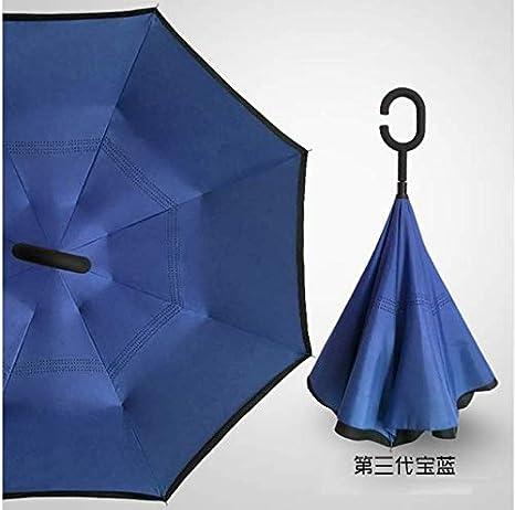 Xiaojing Paraguas A Prueba De Viento Plegable, Doble Capa Paraguas ...