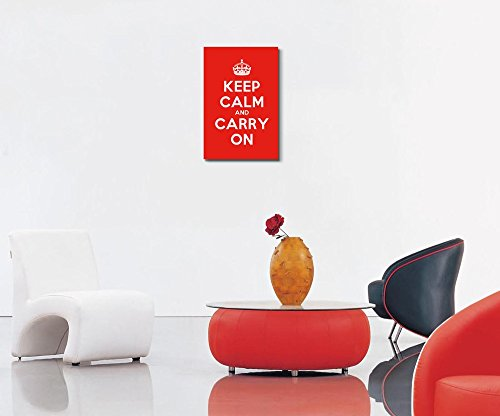 Keep Calm and Carry On Stretched Red