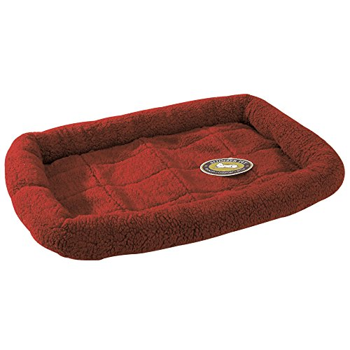 Slumber Pet Sherpa Crate Beds  -  Comfortable Bumper-Style Beds for Dogs and Cats - X-Small, Wine (Crate Pad 48 X 30)