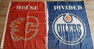 House Divided - Calgary vs. Edmonton Flag - 3ft x 5ft