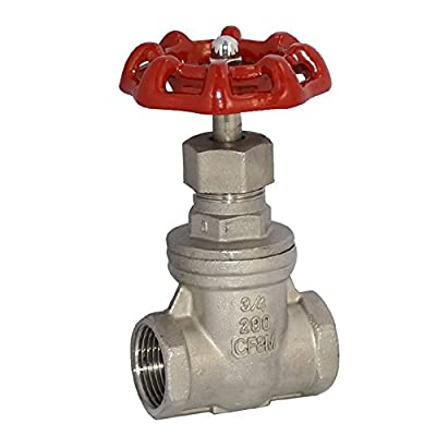 """3/4"""" NPT Female Thread Heavy Duty Gate Valve,Stainless Steel SUS SS 316,CF8M by GlobalMa"""