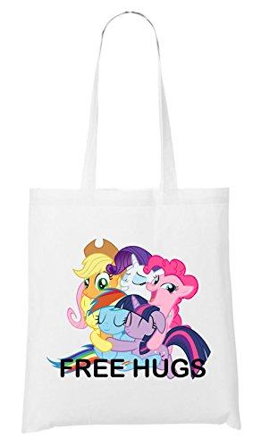 Free Hugs Pony Bag White
