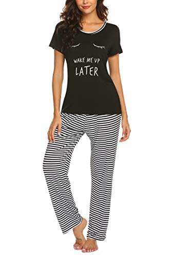 Hotouch Womens Pajama Set Cute Casual Loungewear Sets Lounge Wear