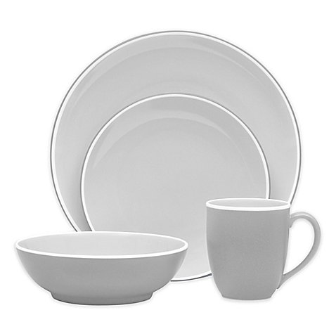 Noritake ColorTrio Coupe 4-Piece Place Setting in Slate ()