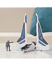 Star Wars Mission Fleet Stellar Class Bo-Katan Gauntlet Starfighter Starfighter Siege 2.5-Inch-Scale Figure & Vehicle, Kids Ages 4 and Up (F1139)