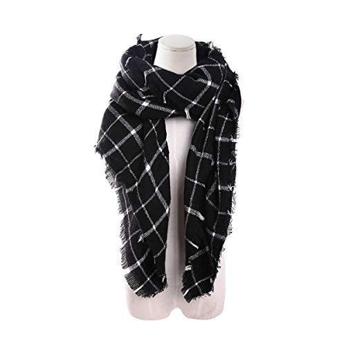 Plaid Scarf Black/White