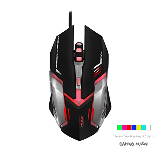 Airfox-GS2000-Ergonomic-Wired-Gaming-Mouse-3200DPI-Sensor-Seven-Color-Soothing-LED-Comfortable-Grip-High-Quality-Popular-Gaming-Mouse