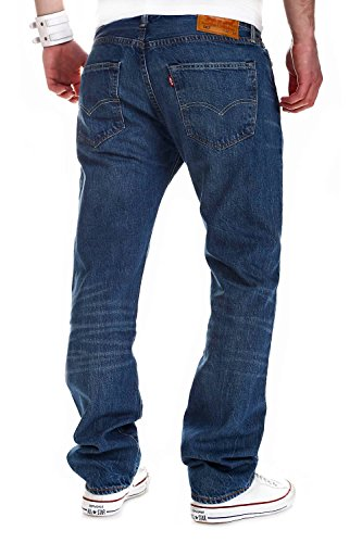 Original Blau Levi's fine 501 2123 uomo Fit Jeans qC5Sg5