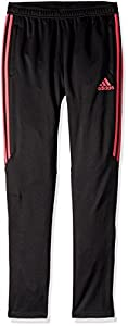 adidas Youth Soccer Tiro 17 Training Pants, Black/Real Pink, Large