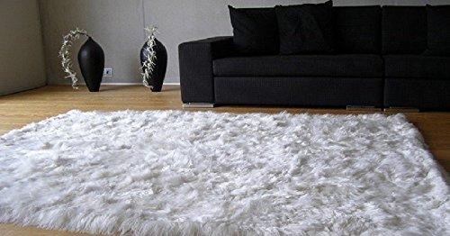 Baby suri alpaca rug. White colour. Home decor. Soft rug (5ft x (Baby Alpaca Rug)