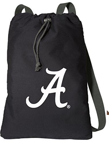 Broad Bay UA University of Alabama Drawstring Backpack Rich Canvas Alabama Crimson Tide Cinch Bag ()